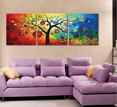 """20X20"""" New DIY Acrylic Paint By Number kit Oil Painting Three Parts Fruits Tree"""