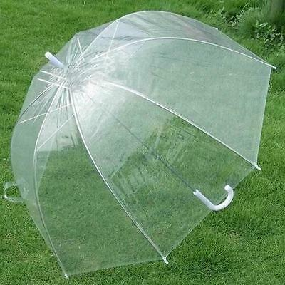 New Transparent Clear Dome Automatic Rain Umbrella Parasol For Wedding Party
