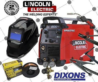 Lincoln Electric Speedtec 200C Flux Cored MIG Lift TIG ARC MMA Stick Welder