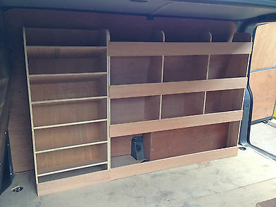 VW Transporter SWB T5 T6 Drivers Side Plywood Racking With Drill, Service Case