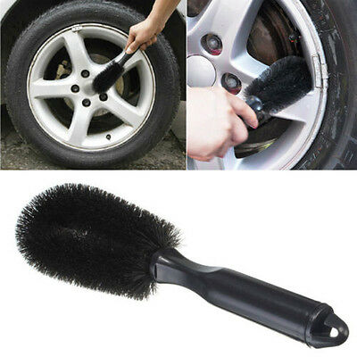 Black Car Vehicle SUV Wheel Tire Rim Scrub PVC Brush Cleaning Wash Tool Kits