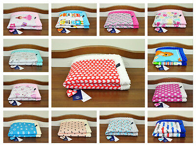 Plush/cotton blanket/ soft/ reversible/for crib, cot, pram/play mat/handmade