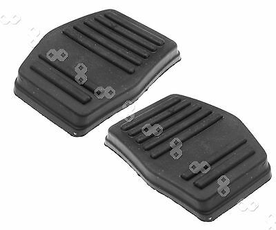 Pair of Black Clutch or Brake Pedal Pad Rubber Cover Ford Mondeo
