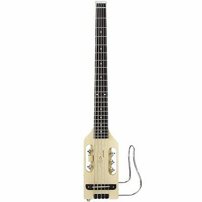 New Traveler Ultra-Light Acoustic-Electric 5-String Travel Bass Guitar, Natural