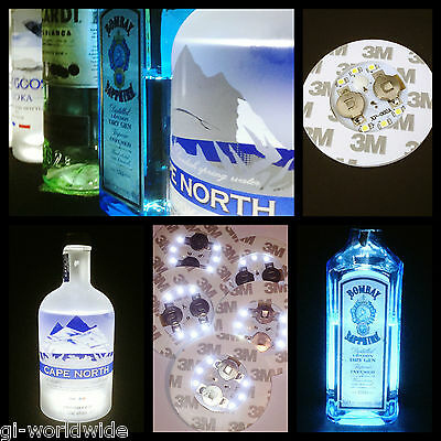 LED Light Bottle Sticker / Glorifier for Back Bar, Spirit Bottles, Night Clubs