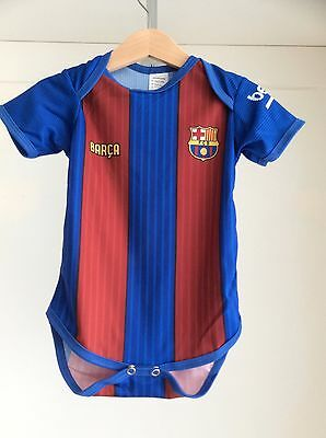 Babies Soccer Player Messi Barcelona onesies assorted colors
