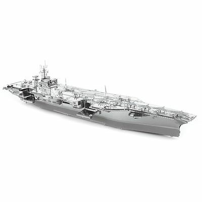 Fascinations Metal Earth ICONX USS Roosevelt Aircraft Carrier CVN71 3D Model Kit