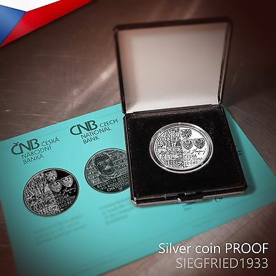 Czech Silver Coin PROOF (2015) - Bedrich Hrozny deciphered the Hittite language