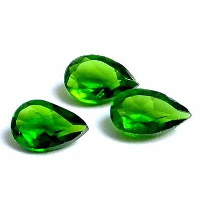 NATURAL STUNNING TOP GREEN CHROME DIOPSIDE LOOSE GEMSTONES (1 piece) PEAR CUT