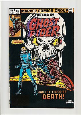 Ghost Rider #81 Vf/nm 9.0 Death Of Ghost Rider! *last Issue* Bronze Age 1983