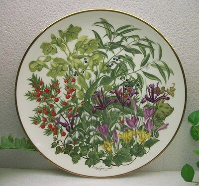Mint FRANKLIN PORCELAIN Wedgwood FLOWERS OF THE YEAR plate collection FEBRUARY
