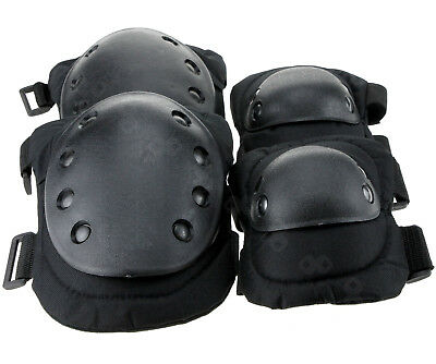 Military Tactical Knee +Elbow Pad set. Paintball/Airsoft Protection Pads