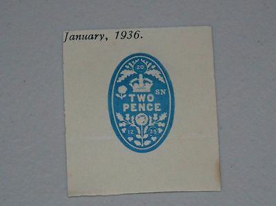 Stamp Pickers Great Britain BOB Embossed Fiscal Revenue 2 Pence