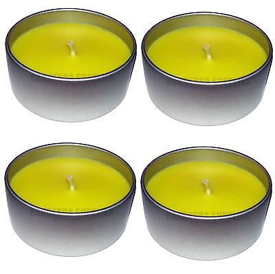 4 x PRICES CITRONELLA LARGE FRAGRANCED GARDEN CANDLE IN TIN 8HR