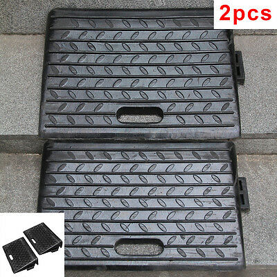 2 X Rubber Kerb Ramps for Cars Caravans Wheelchair Mobility Disabled Access