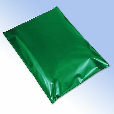 """25 Strong Green Self Seal Plastic Poly Mailing Postage Bags 14x20"""" 350x500mm"""