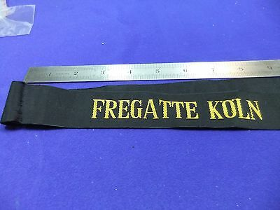vtg navy cap tally hat band frigate friggate koln ribbon naval german nautical