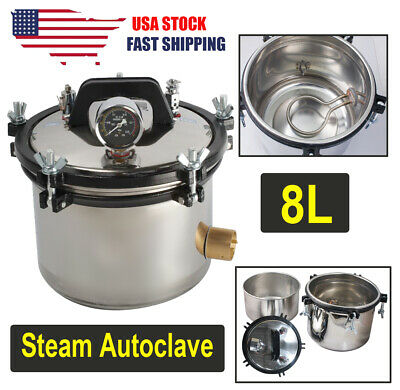 A 18L portable Dental Medical  Autoclave Pressure Steam Sterilizer Sterilization