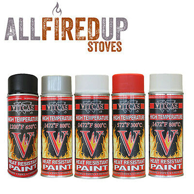 Vitcas High Temperature Spray Paint For Stoves, Ovens, Cookers Heat Resistant