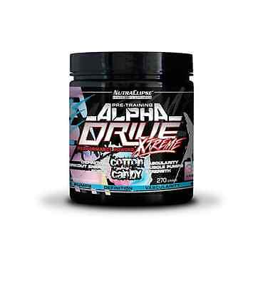 NutraClipse Alpha Drive Xtreme 270g Booster Cotton Candy+Geschenk (144,07€/Kg)