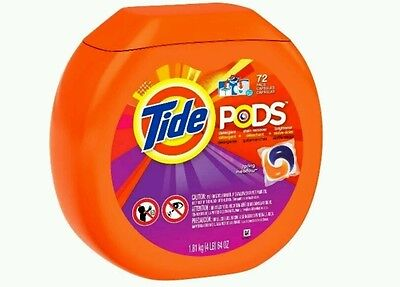 Tide Pods Spring Meadow Scent Laundry Detergent Pacs 72 ct