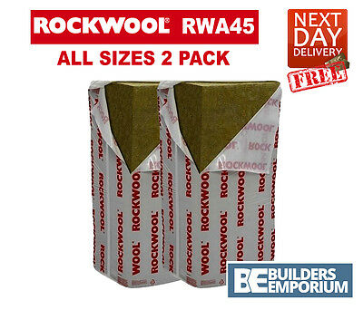 ROCKWOOL X2 RWA45 Acoustic Sound Insulation 50, 75 and 100mm