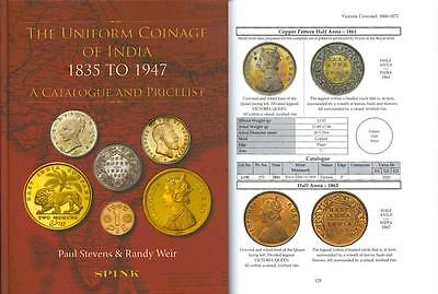 UNIFORM COINAGE OF INDIA 1835 1947 Catalogue Price List Paul Stevens Randy Weir