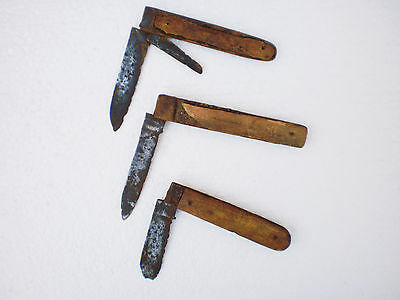 ANCIENT RARE 100% Authentic Medieval CLASP -  KNIFE ca 17 century AD  Set 3
