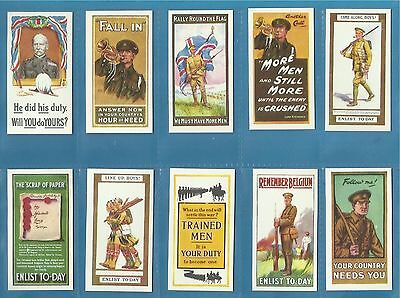Wills cigarette cards - RECRUITING POSTERS - Full mint condition set