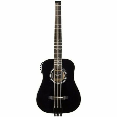 New Traveler AG-200EQ Acoustic-Electric Travel Guitar, Black + Free Shipping