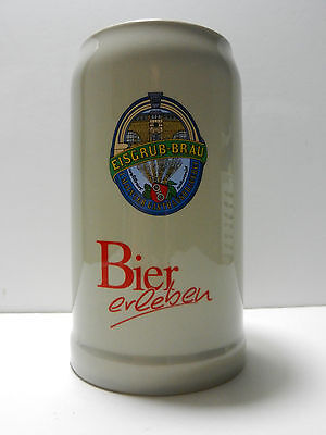 Eisgrub Brau German 1 Liter Ceramic Beer Stein Mainz Germany Brew Pub Rastal