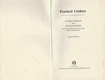 Practical Cookery, Kinton, Ronald Hardback Book The Cheap Fast Free Post