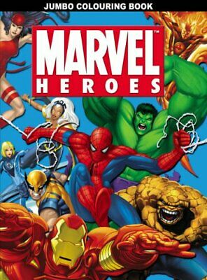 Marvel Heroes Jumbo Colouring Book Paperback Book The Cheap Fast Free Post