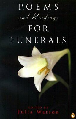 Poems and Readings for Funerals by Watson, Julia Paperback Book The Cheap Fast