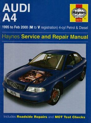 Audi A4 (4-cylinder) 1995-2000 Service and Repair Ma... by Legg, A. K. Paperback