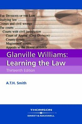Glanville Williams Learning the Law, A.T.H. Smith Paperback Book