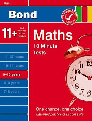 Bond 10 Minute Tests Maths 9-10 years by Lindsay, Sarah Pamphlet Book The Cheap