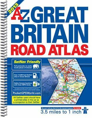 Great Britain Road Atlas (A-Z Road Atlas) [spiral bou... by Geographers' A-Z Map