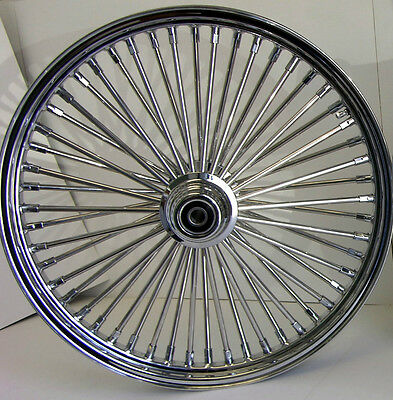 DNA MAMMOTH 52 FAT SPOKE CHROME WHEEL 21x2.15 FOR 84-99 SOFTAIL FXST HARLEY