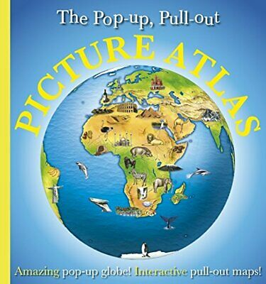 Pop-up, Pull-out, Picture Atlas by DK Hardback Book The Cheap Fast Free Post
