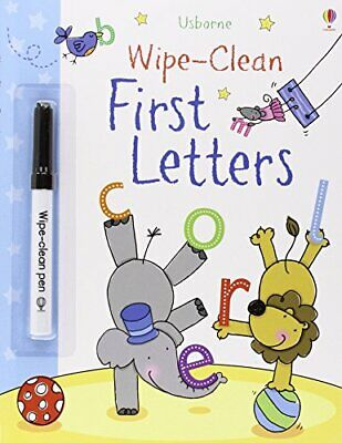First Letters (Usborne Wipe Clean Books), Hall, Nicola Paperback Book