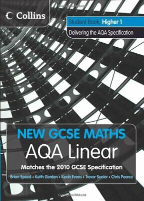 New GCSE Maths - AQA Linear Higher 1 Student Book by Speed, Brian Book The Cheap