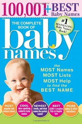 Complete Book of Baby Names by Lesley Bolton Book The Cheap Fast Free Post