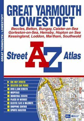 Great Yarmouth Street Atlas by Geographers A-Z Map Company Paperback Book The