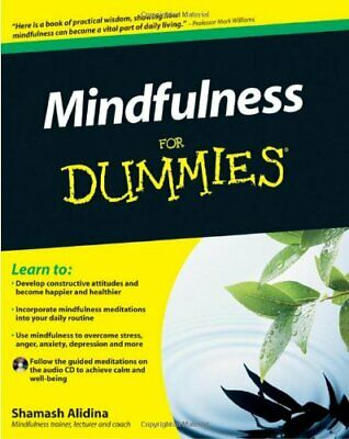 Mindfulness For Dummies (Book + CD) by Alidina, Shamash Paperback Book The Cheap