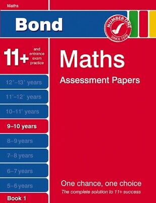Bond Maths Assessment Papers 9-10 years Book 1 by Andrew Baines Paperback Book
