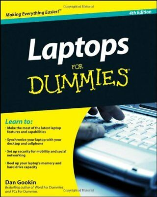 Laptops For Dummies (For Dummies (Computers)), Gookin, Dan Paperback Book The