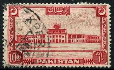 Pakistan 1949-53 SG#50, 10a Scarlet Used #D30859