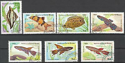Guinea-Bissau 1983 Fishes set of 7 Used / CTO