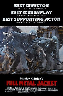 """""""Full Metal Jacket"""" Adam Baldwin Classic 1987 Action Movie Poster A1A2A3A4Sizes"""